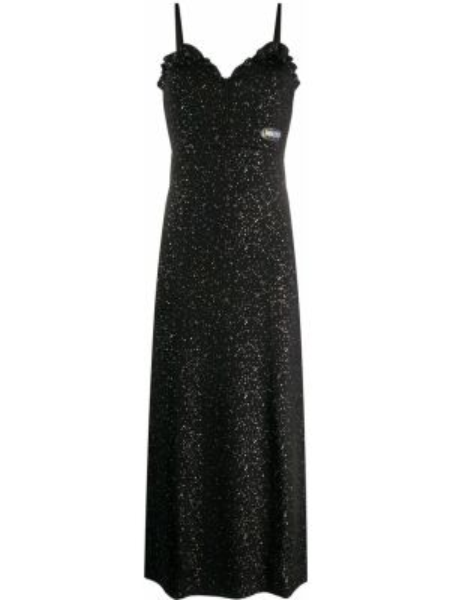 Платье миди черное с рукавами Kenzo
