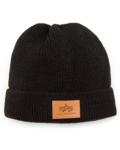 Ciepły czarny kapelusz z akrylu Alpha Industries