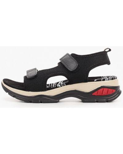 Текстильные черные сандалии Francesco Donni