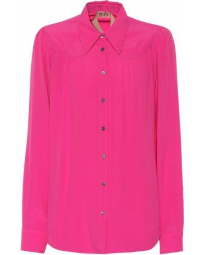 Розовая рубашка с жемчугом N°21