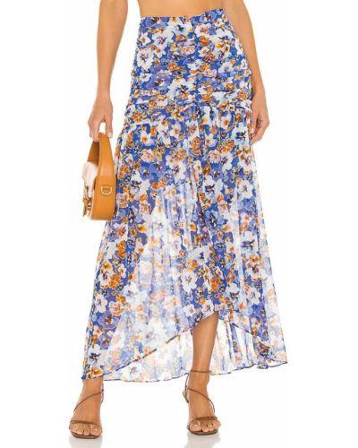 Шифоновая юбка - синяя Misa Los Angeles