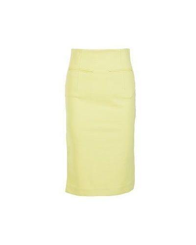 Хлопковая юбка миди - желтая Alter Ego