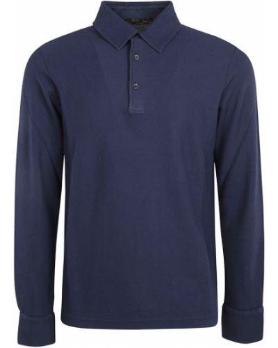 Niebieska t-shirt Loro Piana