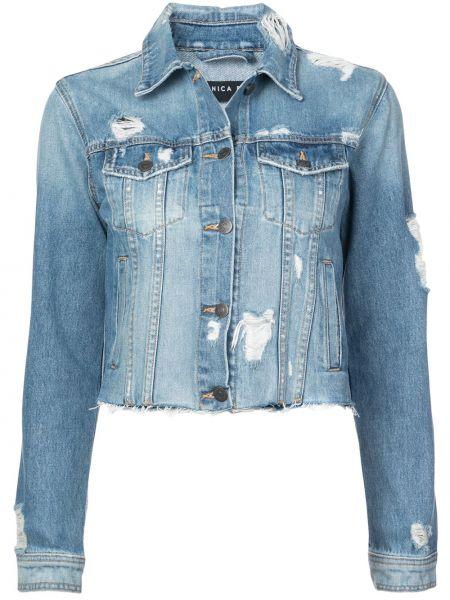 Синяя джинсовая куртка с манжетами на пуговицах Veronica Beard