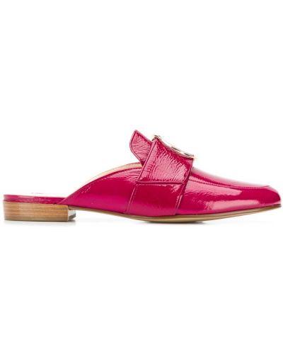Мюли кожаные розовый Hogl