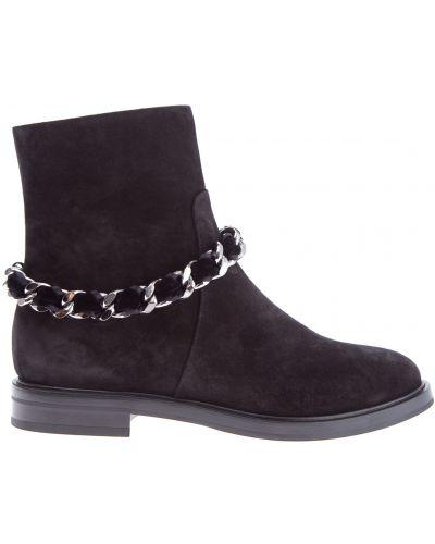 Ботинки на каблуке на молнии замшевые Casadei