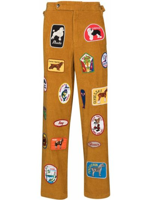 Brązowe spodnie bawełniane Bode