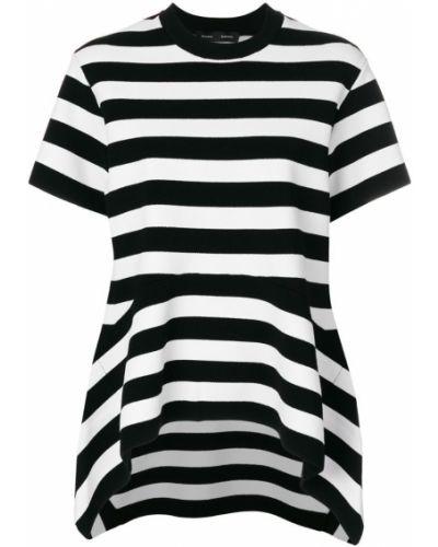 Рубашка с коротким рукавом в полоску асимметричная Proenza Schouler