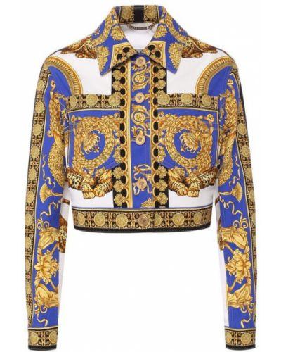 Куртка укороченная с принтом Versace