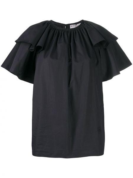 Bawełna czarny bluzka okrągły okrągły dekolt Givenchy