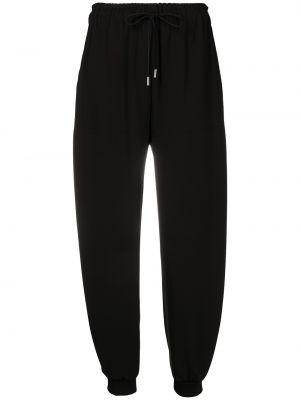 Шелковые брюки - черные Chloé