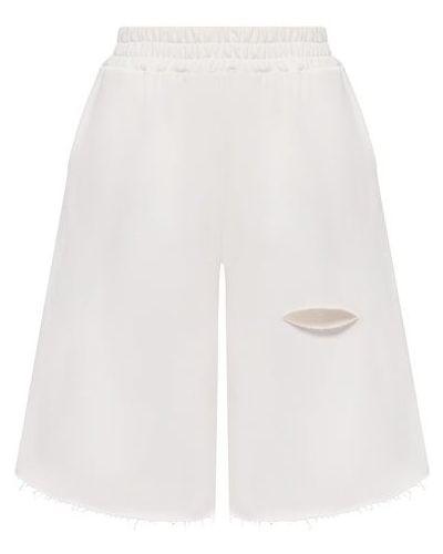 Хлопковые шорты - бежевые Forte Dei Marmi Couture