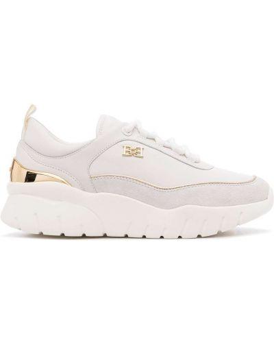 Кожаные кроссовки - белые Bally