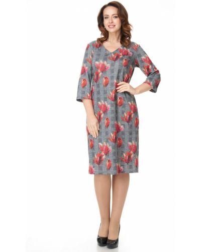 Платье миди с декольте с V-образным вырезом Amarti