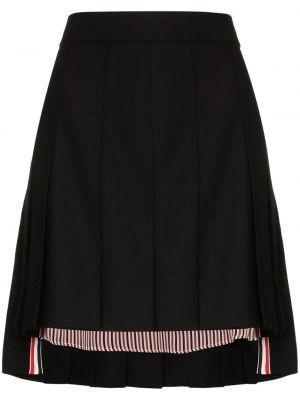 Шерстяная юбка мини - черная Thom Browne