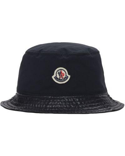 Nylon kapelusz z łatami Moncler