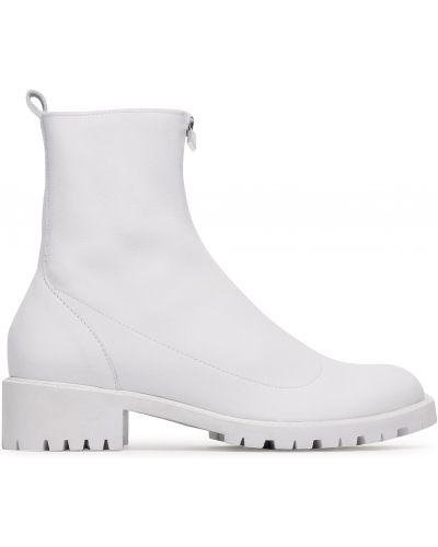 Кожаные ботинки - белые Sergio Bardi