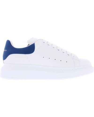 Niebieskie sneakersy skorzane oversize Alexander Mcqueen