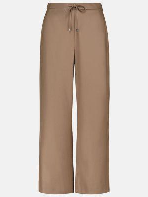 Brązowe spodnie wełniane S Max Mara