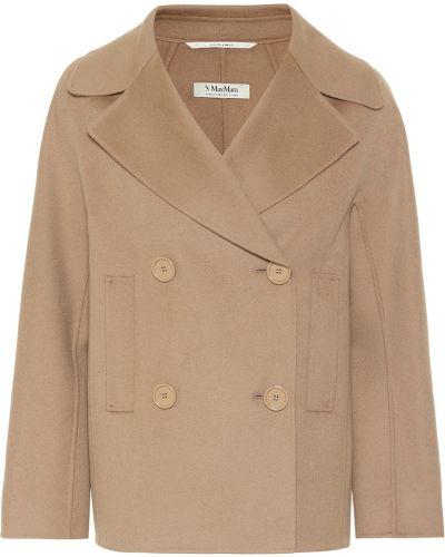 Шерстяная бежевая куртка 's Max Mara