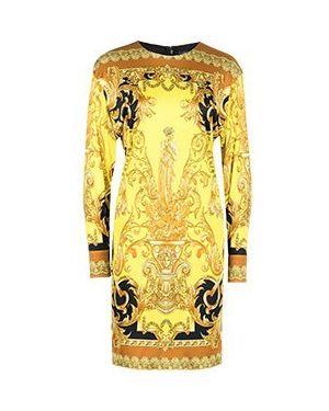 Коктейльное платье желтый Versace