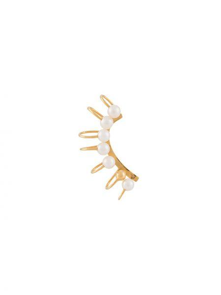 Kolczyki z perłami srebrne żółty Vibe Harsløf