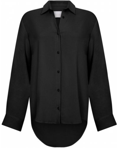 Czarna koszula nocna z wiskozy Asceno