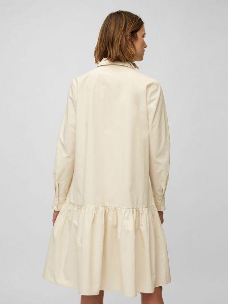 Хлопковое серое платье-рубашка с манжетами Marc O'polo