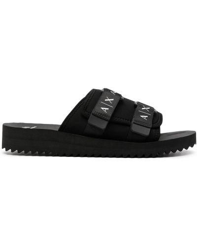 Białe sandały peep toe Armani Exchange