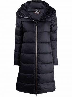 Czarny płaszcz z kapturem Save The Duck