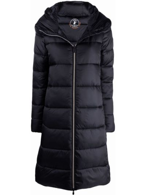 Черное пальто с карманами Save The Duck