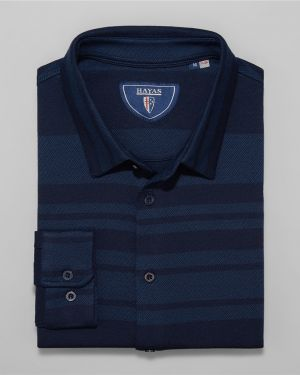 Рубашка в полоску синий Hayas