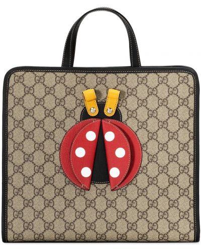 Klasyczna beżowa torebka skórzana Gucci Kids
