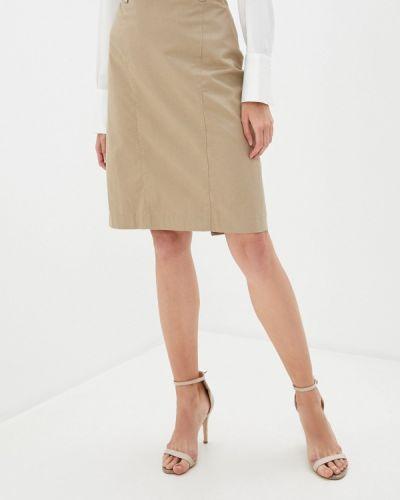 Бежевая прямая юбка карандаш Trussardi Collection