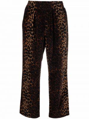 Коричневые брюки с принтом Pierre-louis Mascia