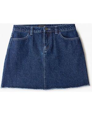 Синяя джинсовая юбка Emporio Armani