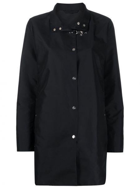 Синее пальто с воротником на кнопках с карманами Fay