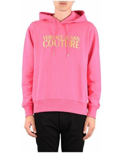 Bluza z nadrukiem z printem - różowa Versace Jeans Couture