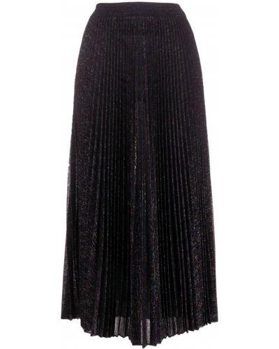 Черная с завышенной талией плиссированная юбка миди Missoni