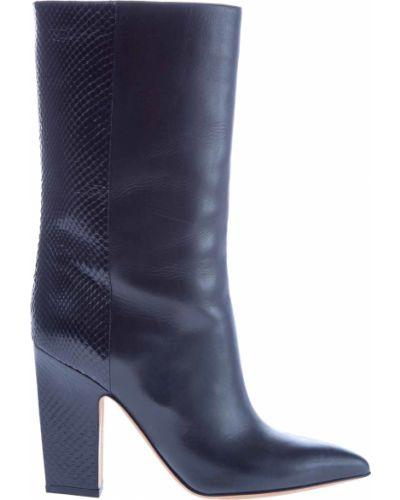 Кожаные сапоги на каблуке с логотипом Valentino