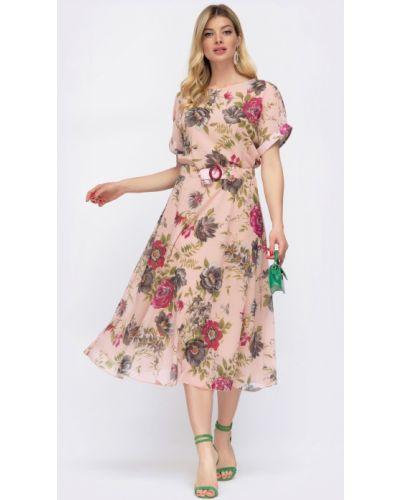 Шифоновое платье с поясом Molegi