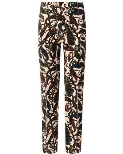 Укороченные брюки со стрелками бархатные Chloé