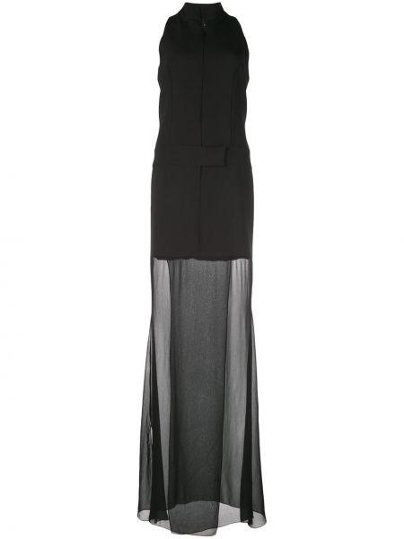 Платье с воротником - черное Nicole Miller