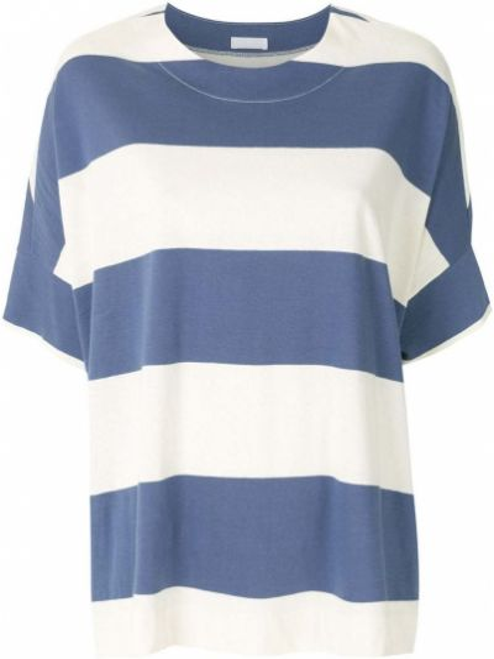 Блузка с короткими рукавами - синяя Osklen