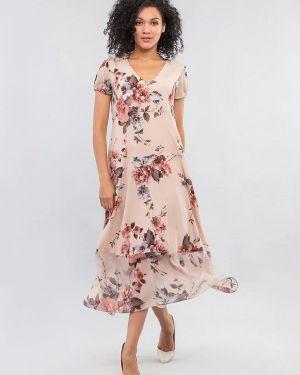 Бежевое платье Maxa