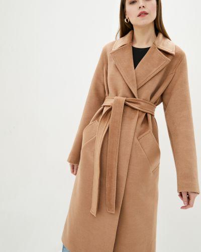 Пальто с поясом - коричневое Danna