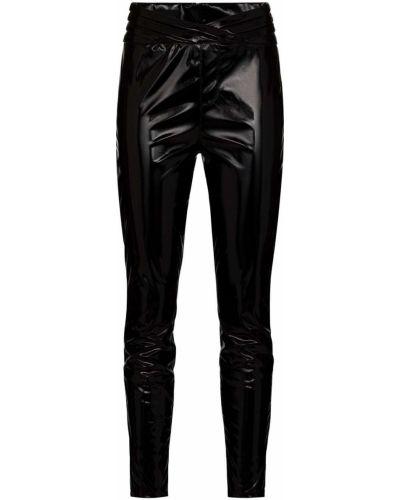 Черные кожаные леггинсы с высокой посадкой Rta