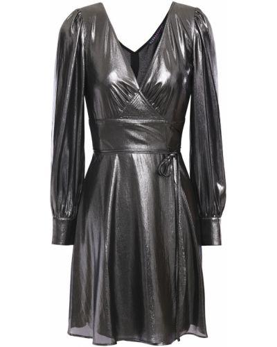 Sukienka mini kopertowa zapinane na guziki Alexachung