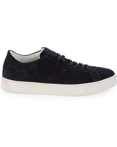 Sneakersy na platformie skorzane Santoni