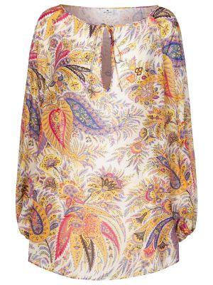 Ватная шелковая блузка Etro